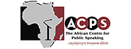THE AFRICAN CENTRE FOR PUBLIC SPEAKING